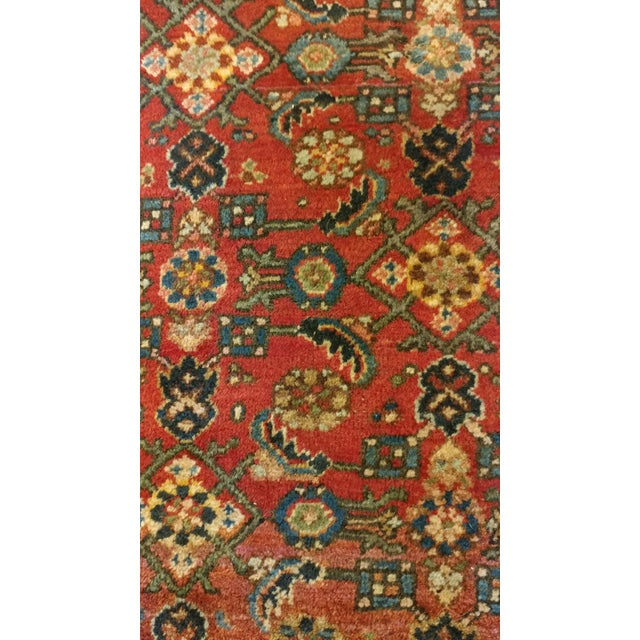 Red Vintage Persian Sarouk Rug- size 9x10 ft For Sale - Image 8 of 11