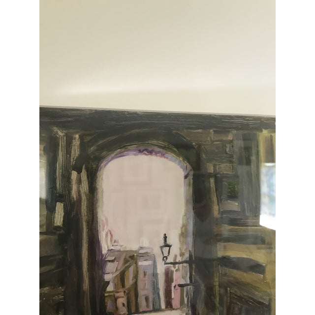 """Contemporary """"Edinburgh"""" Contemporary Architectural Oil Painting, Framed For Sale - Image 3 of 7"""