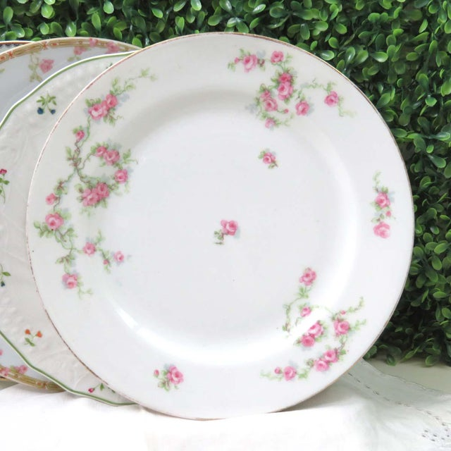 Vintage Mismatched Fine China Luncheon Plates - Set of 4 For Sale In Washington DC - Image 6 of 8