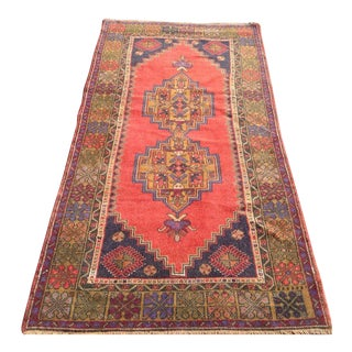 Vintage Anatolian Rug - 3′11″ × 7′9″ For Sale