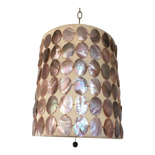 1960s Abalone Shell Pendant Light For Sale