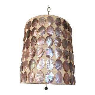 1960s Abalone Shell Pendant Light For Sale