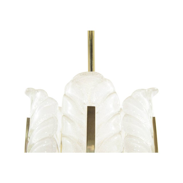 Murano Glass Brass Chandelier by Carl Fagerlund for Orrefors, Sweden, 1960s For Sale In New York - Image 6 of 10