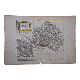 18th C. Antique Map-France-Languedoc, Dauphine Provence For Sale