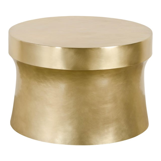 Dong Shan Table - Brass by Robert Kuo, Hand Repousse, Limited Edition For Sale