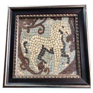 Vintage Framed Tapestry Horse For Sale