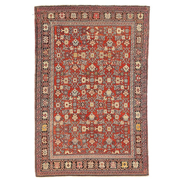 """Early 20th Century Antique Persian Karajeh Rug-4'2'x6'4"""" For Sale - Image 5 of 5"""