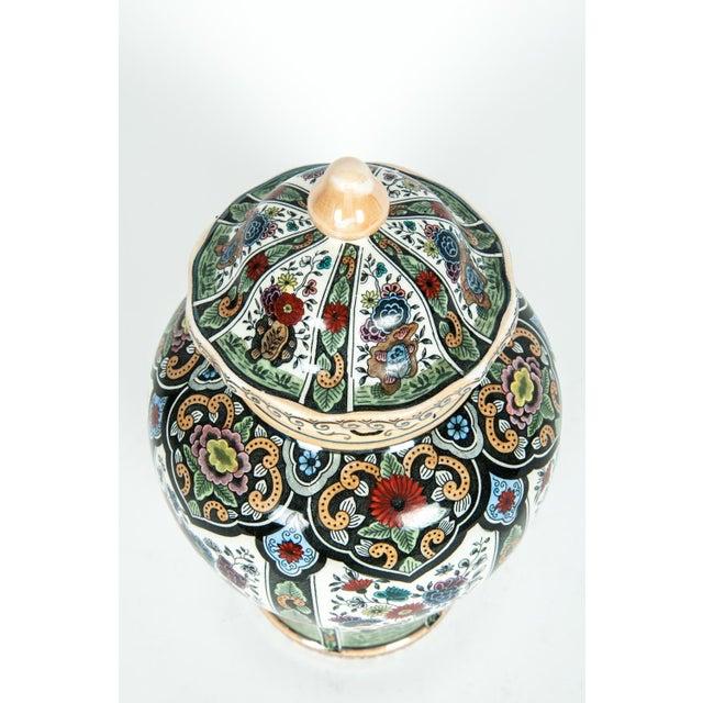 1920s Vintage Dutch Porcelain Covered Urn For Sale - Image 5 of 13
