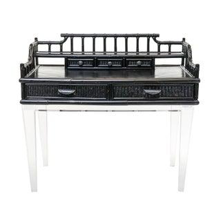 Black Bamboo Desk