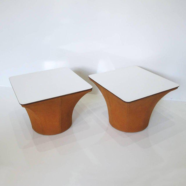 Contemporary Pierre Paulin Style Mid-Century Modern Mushroom Side Tables - a Pair For Sale - Image 3 of 11