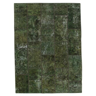 """Pasargad N Y Persian Patch-Work Decorative Hand-Knotted Area Rug- 5'x6'9"""" For Sale"""