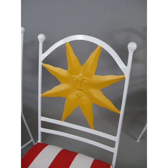1960s 1960s Wrought Iron Shining Sun Chairs - Set of 4 For Sale - Image 5 of 6