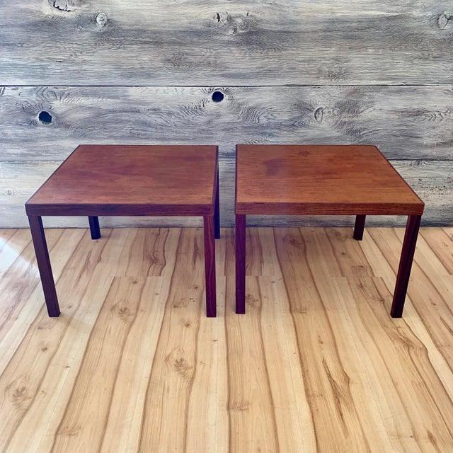 1960s Danish Modern Hans Olsen Teak Side Tables - a Pair For Sale - Image 11 of 11