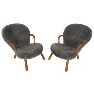Pair of Philip Arctander Lounge Chairs for Paustian For Sale
