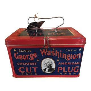 George Washington Cut Plug Tin