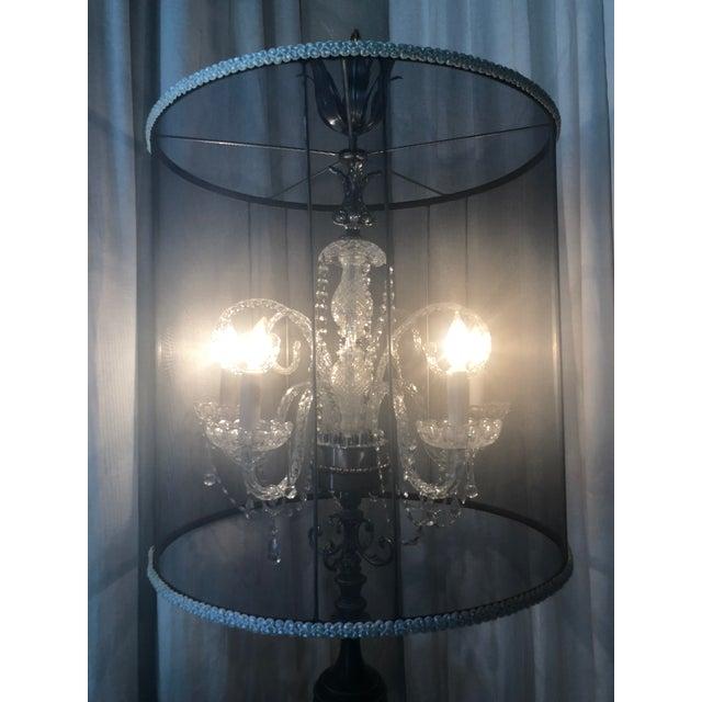 Abstract Luna Bella Tripod Crystal Chandelier Floor Lamp For Sale - Image 3 of 10