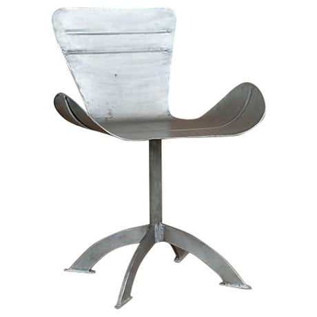 Artist-Sculpted Industrial Aluminum Chair - Image 1 of 9
