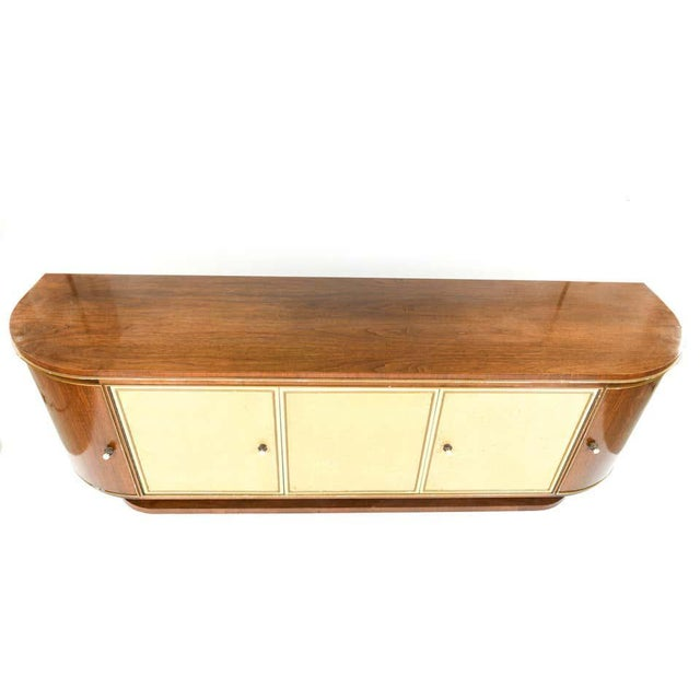 French or Italian Art Deco sideboard or credenza. Finely constructed 1920s case is monumental and well constructed. A...