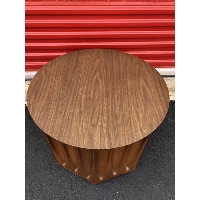 Mid-Century Modern 1960s Mid Century Modern Round End Table With Storage Cabinet For Sale - Image 3 of 10