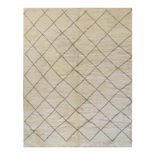 Contemporary Deep Pile Wool Moroccan Inspired Handwoven Rug For Sale