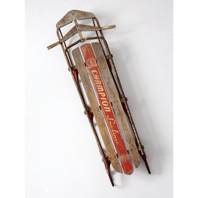 Brown 1950s Champion Sno-Liner Sled For Sale - Image 8 of 9