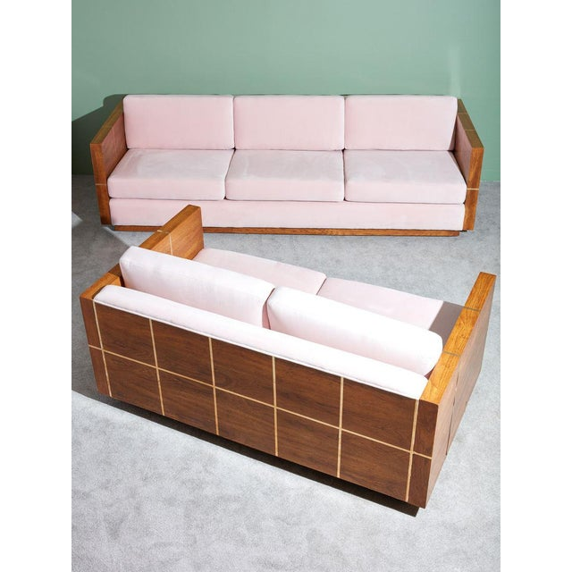 Vintage 1970s Wood Cased Sofa For Sale In New York - Image 6 of 8