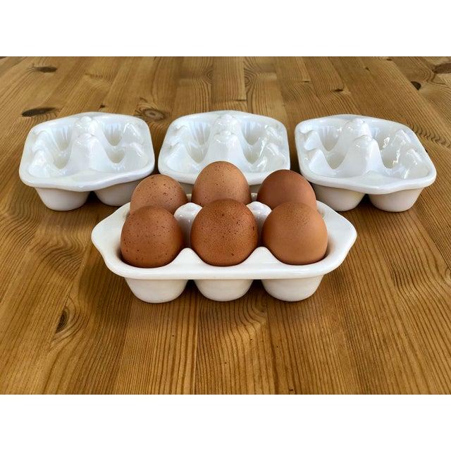Italian Ceramic Egg Cartons - Set of 4 For Sale - Image 9 of 12