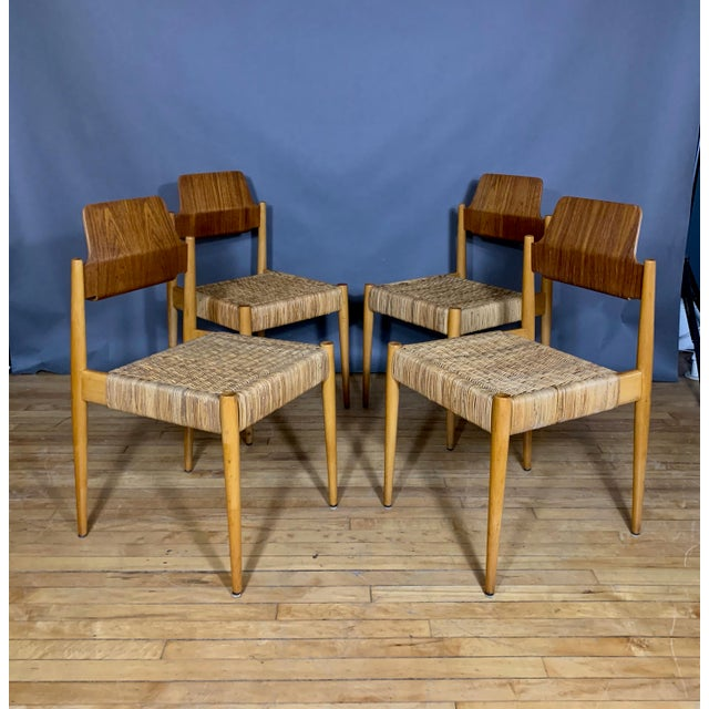 1950s Egon Eiermann Church Chairs- Set of 4 For Sale - Image 13 of 13