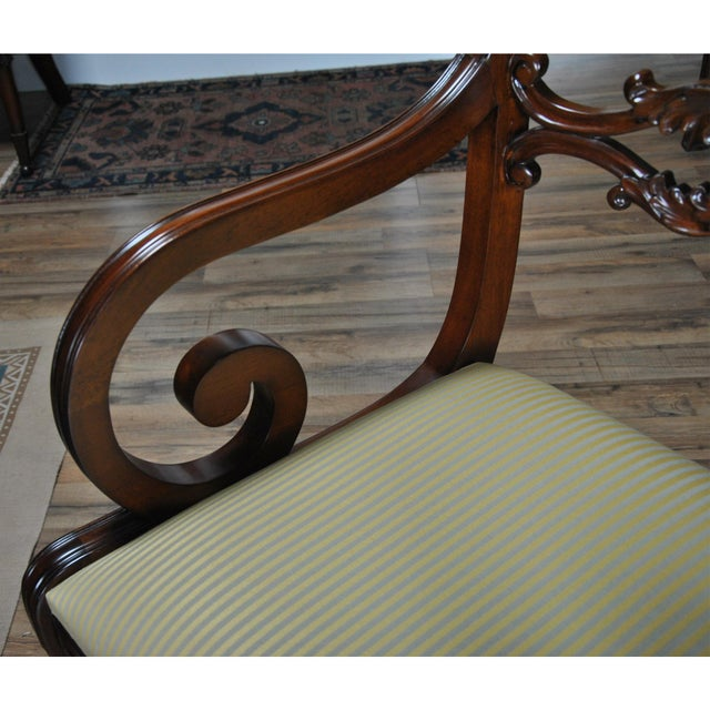 Philadelphia Empire Arm Chair - a Pair For Sale - Image 12 of 13
