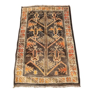 "Vintage Turkish Oushak Rug - 2'11""x4'7"""
