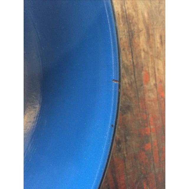 Blue and Black Rim Enamelware Set - 5 Pieces - Image 3 of 5