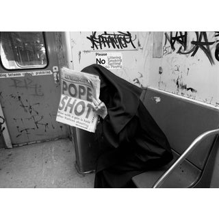 "John Conn ""Subway 93"" NYC Black and White Limited Edition Photograph C. 1981 For Sale"