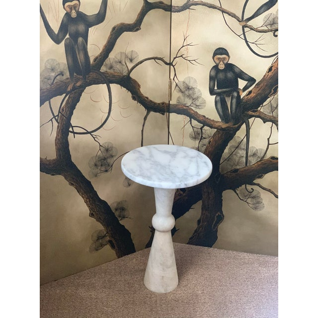 1990s 1990s Marble Night Stand For Sale - Image 5 of 5