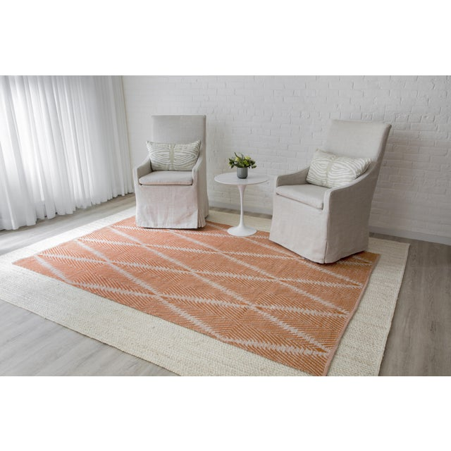 Erin Gates by Momeni River Beacon Orange Indoor/Outdoor Hand Woven Area Rug - 7′6″ × 9′6″ For Sale In Atlanta - Image 6 of 7