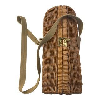 Wine Bottle Picnic Basket With Shoulder Strap For Sale