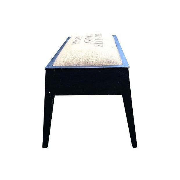 Stenciled Coffee Bench - Image 4 of 5