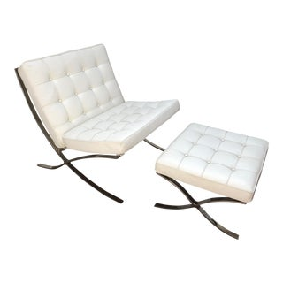 Barcelona Chair & Ottoman - A Pair