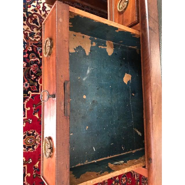 Antique Gothic Revival Oak Leather Top Partner's Desk For Sale - Image 11 of 12