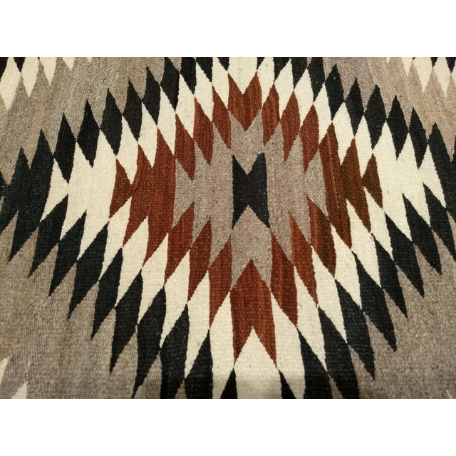 1910s Antique Navajo Eye Dazzler Rug - 3′4″ × 4′3″ For Sale - Image 5 of 9