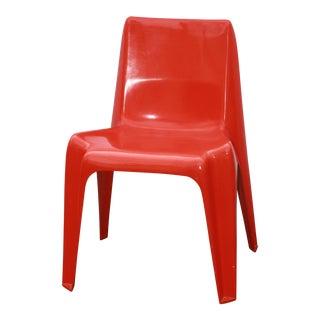 1960s Vintage Helmut Batzner Red Space Age Bofinger Chair Designed For Sale