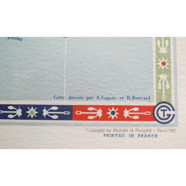 Paper Original Vintage French North American Route Map, the French Line For Sale - Image 7 of 8