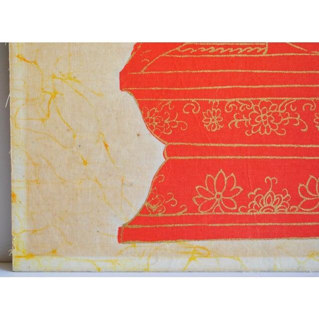 Vintage Batik Art For Sale - Image 5 of 6