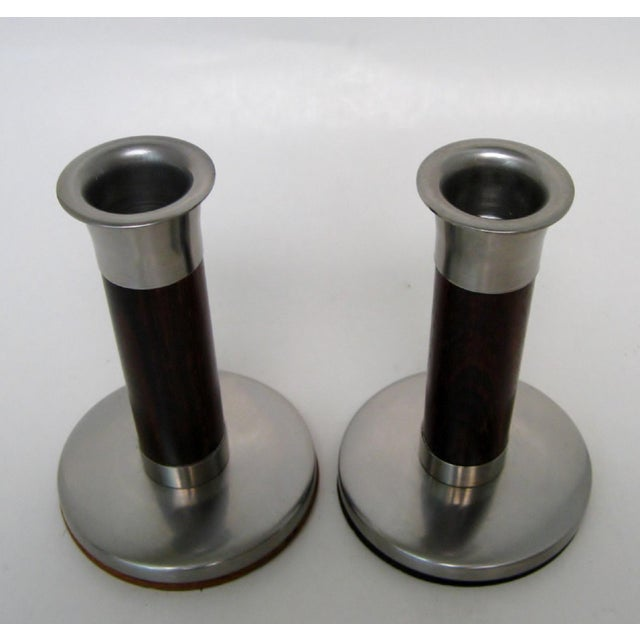 Mid-Century Modern Scandinavian Candlesticks, a Pair For Sale - Image 3 of 6