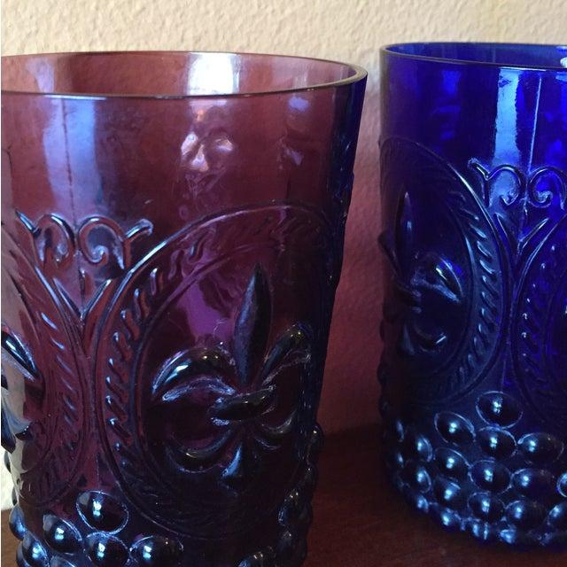 Vintage Fleur De Lis Hobnail Glasses-Set of 3 For Sale In San Francisco - Image 6 of 10