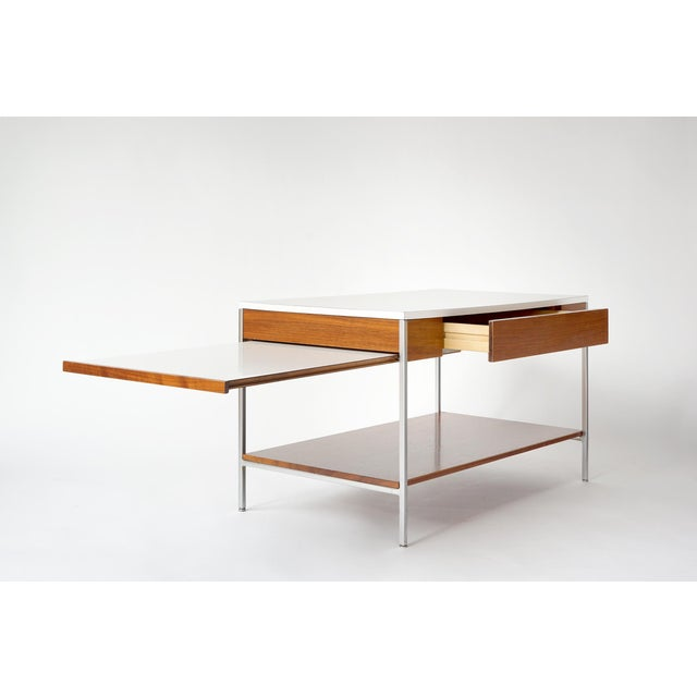Offered by Fresh Kills, Brooklyn is this uncommon, multipurpose table by George Nelson for Herman Miller. Truly versatile...