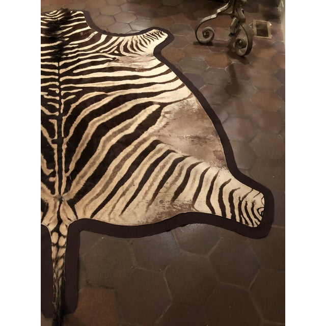 Textile 1960s Vintage Burchell Zebra Rug For Sale - Image 7 of 12