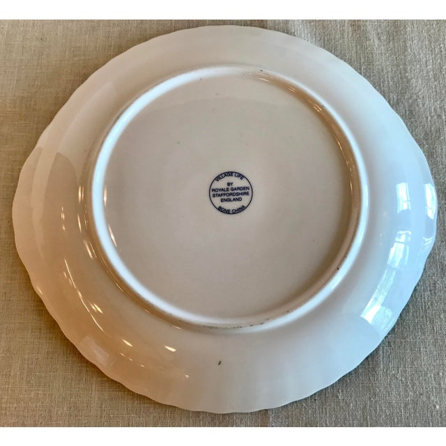 White Blue & White Staffordshire Toile Platter For Sale - Image 8 of 9