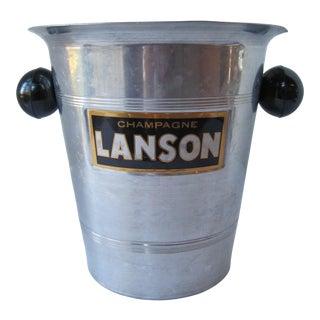 Vintage Champagne Lanson Aluminum Ice Bucket For Sale