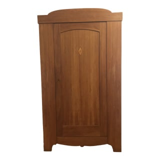 Danish Artisanal Solid Pear Wood Armoire For Sale
