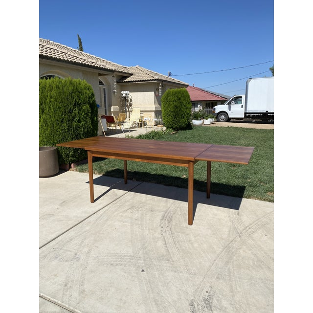 1950s Mid-Century Modern Teak Dining Table For Sale - Image 9 of 9